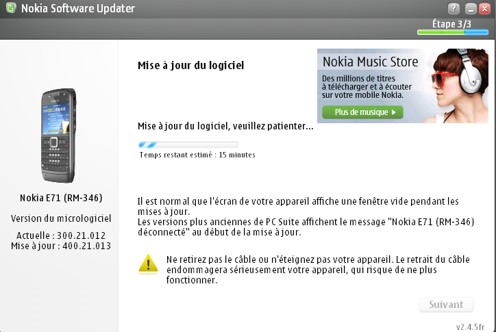 Flashage_Nokia_E71_Nokia software updater product code