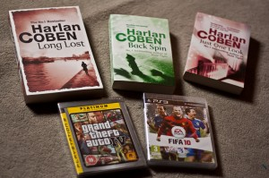 Arrivage_amazon_Harlan_Coben_GTA4_FIFA10