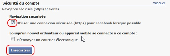 Passer son facebook en https