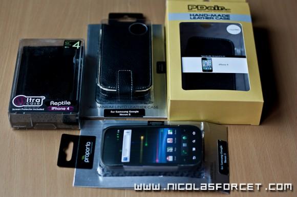Reception-housses-smartphone-Nexus-S-Android-Iphone-4