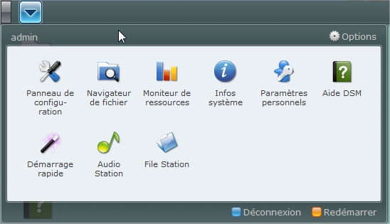 Synology USB Station 2 - Menu