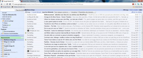 Google Reader Plus - Extension Google Chrome