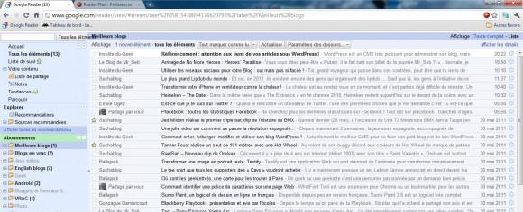 Google Reader Plus - Extension Google Chrome