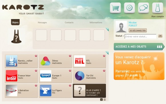 Karotz Applications