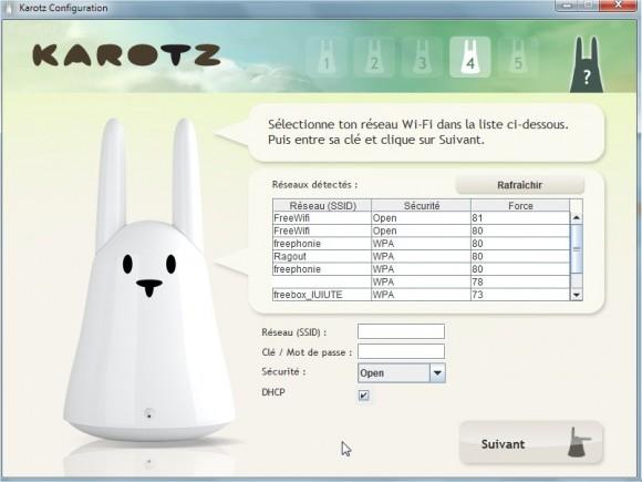 installation Karotz connexion wifi