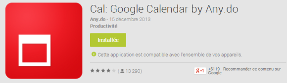 CAL-Android-Calendrier-Google-Widgets