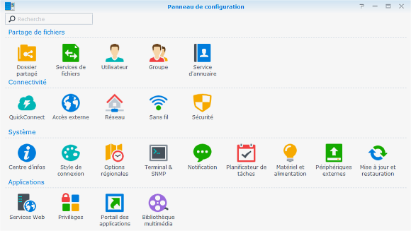 DSM-Synology-Panneau-configuration-options