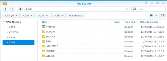 FileStation Synology
