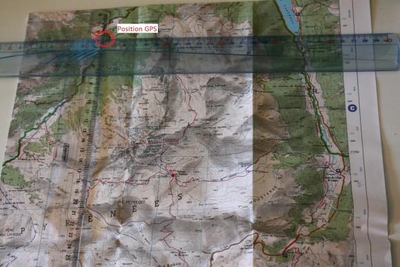 Position GPS UTM carte IGN