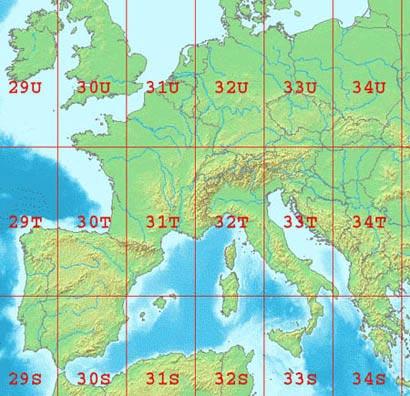 Zone-UTM-France