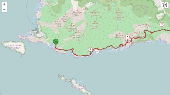 2 - Debut parcours Calanques de Marseille a Cassis