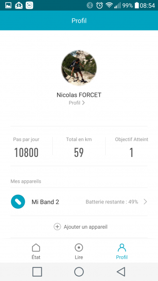 Xiaomi Mi Band 2 Interface application Android (2)