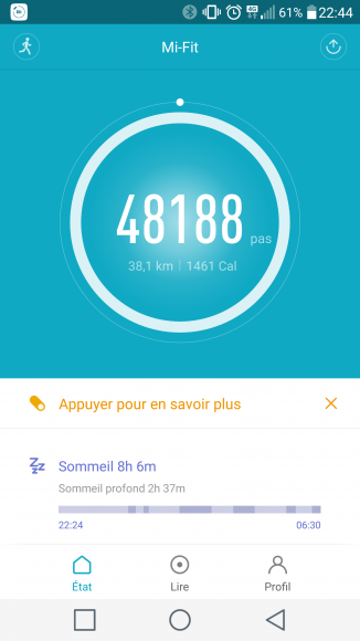 Xiaomi Mi Band 2 Interface application Android (7)