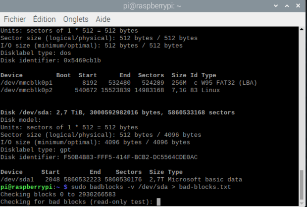 Badblocks-test-disque-dur-linux