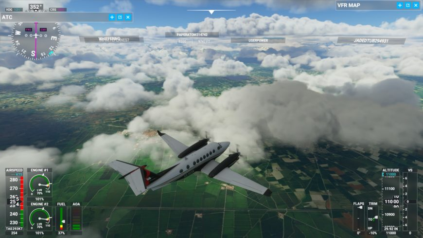 Nuages divers Flight Simulator 2020