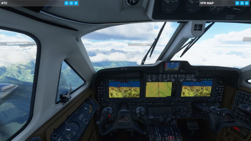Beechcraft cockpit Flight Simulator 2020