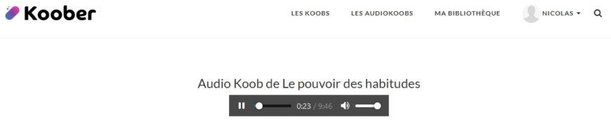 Ecoute audio Koober