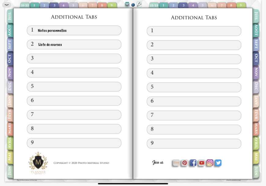 Ipad-planner-PDF-Goodnotes-onglets-additionnels